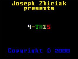 Title screen of 4-TRIS on the Mattel Intellivision.