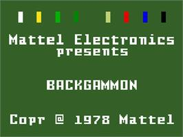 Title screen of ABPA Backgammon on the Mattel Intellivision.
