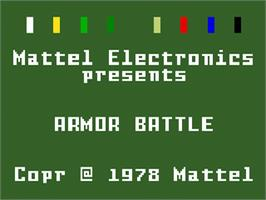 Title screen of Armor Battle on the Mattel Intellivision.
