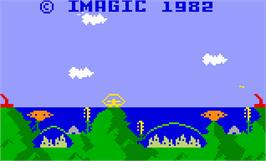 Title screen of Atlantis on the Mattel Intellivision.