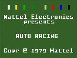 Title screen of Auto Racing on the Mattel Intellivision.