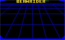 Title screen of Beamrider on the Mattel Intellivision.