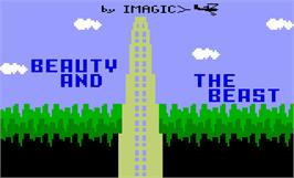 Title screen of Beauty and the Beast on the Mattel Intellivision.