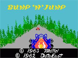Title screen of Bump 'n' Jump on the Mattel Intellivision.
