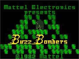 Title screen of Buzz Bombers on the Mattel Intellivision.