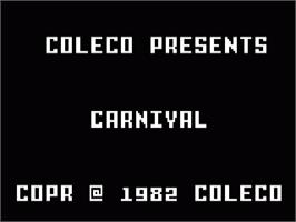 Title screen of Carnival on the Mattel Intellivision.
