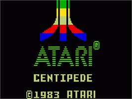Title screen of Centipede on the Mattel Intellivision.