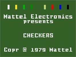 Title screen of Checkers on the Mattel Intellivision.