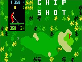 Title screen of Chip Shot: Super Pro Golf on the Mattel Intellivision.