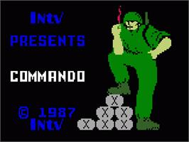 Title screen of Commando on the Mattel Intellivision.