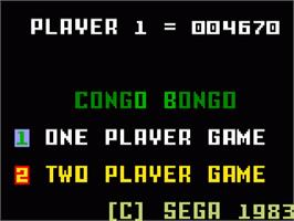 Title screen of Congo Bongo on the Mattel Intellivision.
