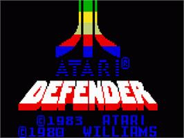 Title screen of Defender on the Mattel Intellivision.