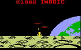 Title screen of Demon Attack on the Mattel Intellivision.