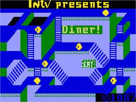 Title screen of Diner on the Mattel Intellivision.