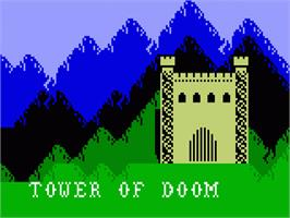 Title screen of Doom on the Mattel Intellivision.