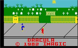 Title screen of Dracula on the Mattel Intellivision.