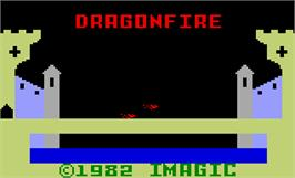 Title screen of Dragon Fire on the Mattel Intellivision.