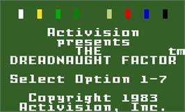Title screen of Dreadnaught Factor on the Mattel Intellivision.