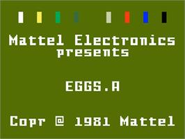 Title screen of Easter Eggcitement on the Mattel Intellivision.