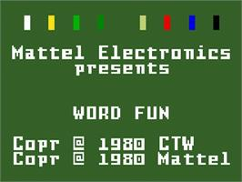 Title screen of Electric Company: Word Fun on the Mattel Intellivision.
