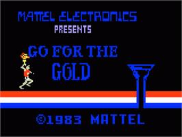 Title screen of Go For the Gold on the Mattel Intellivision.