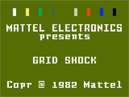 Title screen of Grid Shock on the Mattel Intellivision.