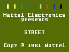Title screen of Halloween Street on the Mattel Intellivision.