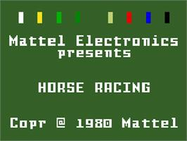 Title screen of Horse Racing on the Mattel Intellivision.