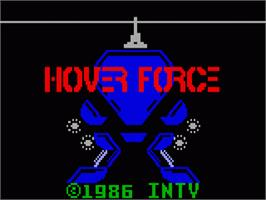 Title screen of Hover Force on the Mattel Intellivision.