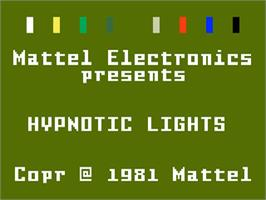 Title screen of Hypnotic Lights on the Mattel Intellivision.