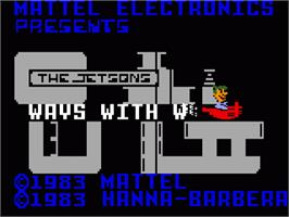 Title screen of Jetsons' Ways With Words on the Mattel Intellivision.
