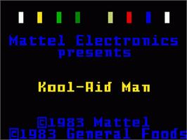 Title screen of Kool-Aid Man on the Mattel Intellivision.