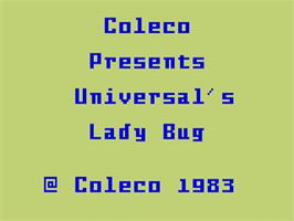 Title screen of Lady Bug on the Mattel Intellivision.