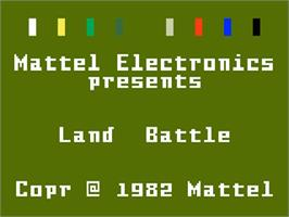 Title screen of Land Battle on the Mattel Intellivision.
