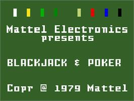 Title screen of Las Vegas Blackjack and Poker on the Mattel Intellivision.
