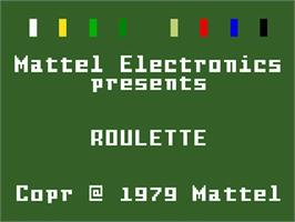Title screen of Las Vegas Roulette on the Mattel Intellivision.