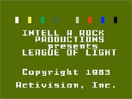 Title screen of League of Light on the Mattel Intellivision.