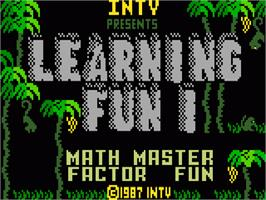 Title screen of Learning Fun I: Math Master Factor Fun on the Mattel Intellivision.