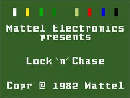 Title screen of Lock'n'Chase on the Mattel Intellivision.