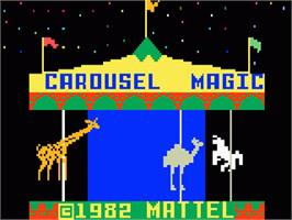 Title screen of Magic Carousel on the Mattel Intellivision.