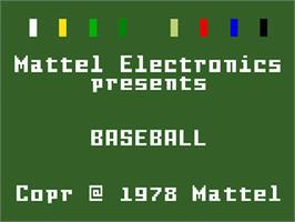 Title screen of Major League Baseball on the Mattel Intellivision.
