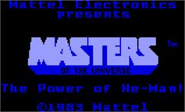 Title screen of Masters of the Universe: The Power of He-Man on the Mattel Intellivision.