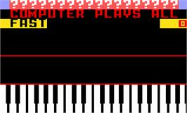 Title screen of Melody Blaster on the Mattel Intellivision.