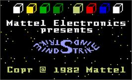 Title screen of Mind Strike on the Mattel Intellivision.