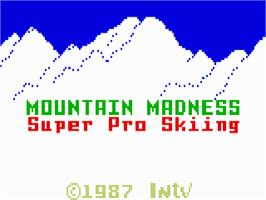 Title screen of Mountain Madness: Super Pro Skiing on the Mattel Intellivision.