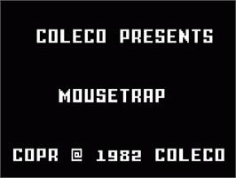Title screen of Mouse Trap on the Mattel Intellivision.