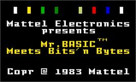 Title screen of Mr. Basic Meets Bits 'N Bytes on the Mattel Intellivision.