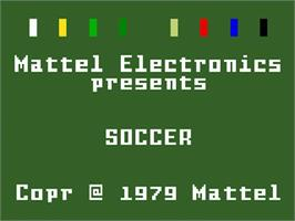 Title screen of NASL Soccer on the Mattel Intellivision.