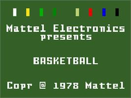 Title screen of NBA Basketball on the Mattel Intellivision.