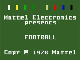 Title screen of NFL Football on the Mattel Intellivision.